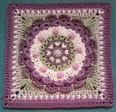 Ravelry: koernerklaus' Vintage Chrysanthemum Mandala Square ~ pattern available on Ravelry by the Lavender Chair for FREE CROCHET Crochet Squares Afghan, Crochet Motifs, Granny Square Crochet Pattern, Crochet Blocks, Crochet Stitches Patterns, Crochet Granny, Crochet Designs, Granny Squares, Crochet Crafts