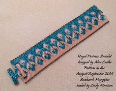Royal Fortress Bracelet. Pattern is from the August/September Issue of Beadwork.
