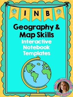 Geography and Map Skills Interactive Notebook...Cardinal Directions, Intermediate Directions, Legend, Map, Five Themes of Geography, Latitude, Longitude, and more! Right Down the Middle with Andrea
