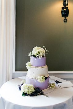 Purple and White Wed