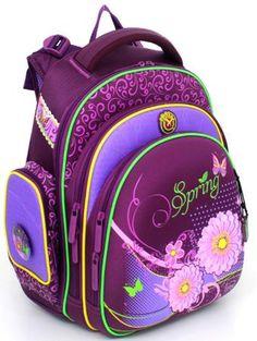 Hummingbird Hummingbird, Ранец  школьный для девочки с мешком для обуви 21ТК (фиолетовый)  — 4450р.