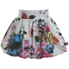 Molo Floral Jersey 'Bellatrix' Bubble Skirt at Childrensalon.com Bubble Skirt, Girl Bottoms, Bellatrix, Spring 2015, Hemline, Bubbles, Floral, Skirts, Fashion Design