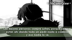 Las mejores personas #ShuOumaGcrow #Anime #Frases_anime #frases