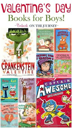 There are no mushy-gushy books on this list! Your boys will love these Valentine's Day Books for Boys!   embarkonthejourney.com
