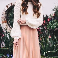 Trying to think warm thoughts over here  this sweater is my new favorite, the sleeves are so fun! http://liketk.it/2q4D7 @liketoknow.it #liketkit #pink #pleats #warmerdays #itstoocoldtogooutside