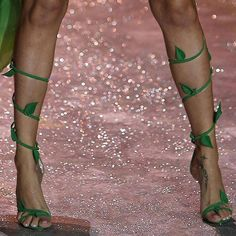 Poison Ivy costume, use flip flops and wind the ivy up the leg