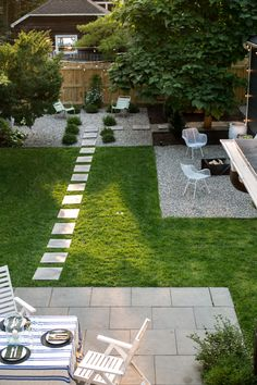 Before & After: A Garden Makeover in Michigan for Editor Michelle Adams aerial view backyard garden Michelle Adams Ann Arbor Michigan Backyard Patio Designs, Small Backyard Landscaping, Small Backyard Design, Garden Design, Backyard Ideas, Patio Ideas, Landscaping Ideas, Landscaping Borders, Backyard Plants