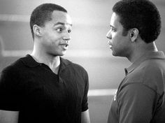 Donald Faison and Denzel Washington in Walt Disney Pictures' Remember The Titans - 2000 Picture - Photo of Petey Jones - FanPix. Remember The Titans, Walt Disney Pictures, Denzel Washington, Rock Stars, Picture Photo, I Laughed, Movie Tv, Tv Shows, Films