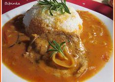 Vepřové plátky chutné a osvěžující svou chutí Food 52, Easy Cooking, Thai Red Curry, Stew, Mashed Potatoes, Food And Drink, Menu, Chicken, Dinner