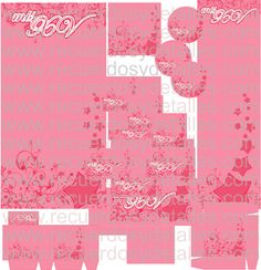 kit imprimible de xv años en rosa