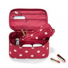 #design3000 Ruby Dots Beautyduo - 2teiliges Set aus geräumiger Kosmetiktasche und Etui.