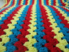 Superman baby blanket handmade unique crochet by NellsCraftCorner