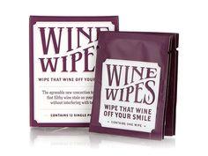 - things i need NOW -- Wine Wipes Single Packs