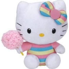 389662c881a Ty Hello Kitty Beanie Babies - 8 in - Cotton Candy