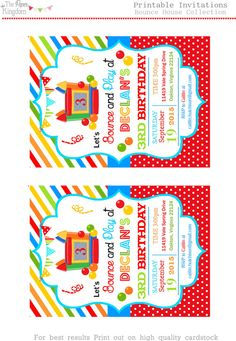 Free FREE Template Free Birthday Invitation Templates For Word - Party invitation template: free bounce party invitation template