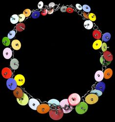 Joan Parcher, USA: Oxidised silver chain with multi-coloured enamel discs. 1990