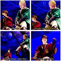 Harry Potter || Actors (Daniel Radcliffe and Tom Felton) being their characters without being in character.
