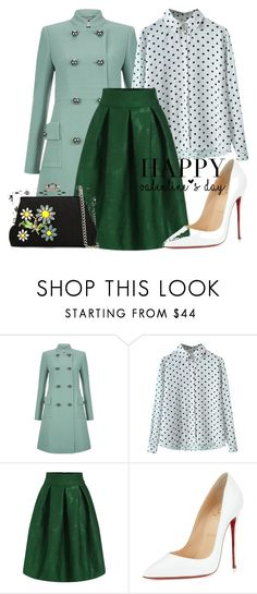 """Untitled #221"" by bellatrix87 ❤ liked on Polyvore featuring Hobbs, Christian Louboutin, Dolce&Gabbana, valentinesday and polyfriends"