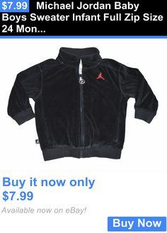Michael Jordan Baby Clothing: Michael Jordan Baby Boys Sweater Infant Full Zip Size 24 Months Black BUY IT NOW ONLY: $7.99