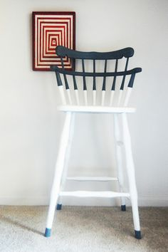 """paint """"dipped"""" barstool."""
