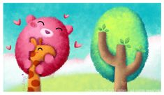 Forever a Tree cute illustration by iMais