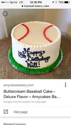 The season of baseball matches can be more jazzed up through the existence of a baseball cake. You will think that the baseball cake ideas are not bad at all by Baseball Theme Cakes, Baseball Birthday Cakes, Baseball Party, Baseball Treats, Cubs Baseball, Baseball Shirts, Vegan Wedding Cake, Wedding Cake Flavors, Paw Print Cakes