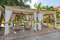 Lounge and relax in thise private cabannas just for you..#sandalsgranderiviera