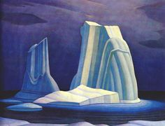 Lawren P. Harris Canadian Icebergs, Davis Strait, 1930 Oil on canvas x Gift of Mr. Lent by: McMichael Canadian Art Collection, Kleinburg to Smallwood Smallwood Kerfoot Art Gallery for 100 Masters: Only in Canada, May 11 - Aug Tom Thomson, Emily Carr, Canadian Painters, Canadian Artists, Abstract Landscape, Landscape Paintings, Landscapes, Group Of Seven Artists, Franklin Carmichael