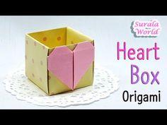 Papiroflexia(origami) - Caja de Corazón, Caja de Regalo - YouTube