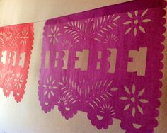 Custom Papel Picado Banner - Baby Shower - Bridal Shower -Fiesta So pretty! What a lost art this is! Bebe Shower, Baby Shower Niño, Baby Shower Gender Reveal, Baby Shower Parties, Baby Boy Shower, Mexican Theme Baby Shower, Mexican Bridal Showers, Baby Shower Themes, Baby Shower Decorations