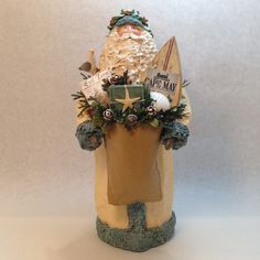 Primitive Folk Art Father Christmas  OOAK Cape May NJ by SantasfrommyHeart on Etsy