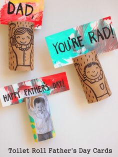 10 Last Minute DIY Father's Day Gifts for Dad Toilet Roll Day Cards - Father's Day is almost her Fathers Day Art, Fathers Day Crafts, Happy Fathers Day, Diy Father's Day Gifts For Dad, Father's Day Diy, Toilet Roll Craft, Toilet Paper Roll Crafts, Kids Toilet, Paper Crafts