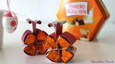 Süße Schmetterlinge mit Ferrero Küsschen | Last Minute Geschenk | DIY German English, Yellow Roses, Thinking Of You, Germany, Presents, Ferrero Rocher, Youtube, Goodies, Boxes