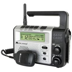 The Midland XT511 Base Camp Emergency Crank 2-Way Radio features 22 channels, including a weather alert channel, to keep you informed of conditions.