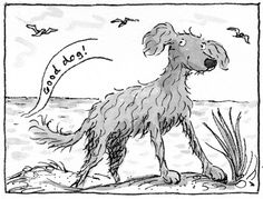 Priscilla Lamont illustration. The Dog from the Sea 1