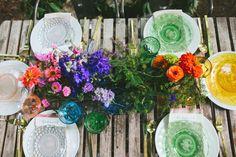 Ombre Rainbow Floral Arrangements
