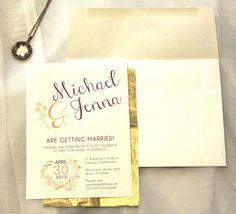 Printable Wedding Invitation: Flourish Series, Made to order download