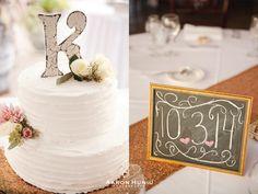 Simple White 2 tier wedding cake | Aaron Huniu Photography | #weddingcake #white #lettertopper