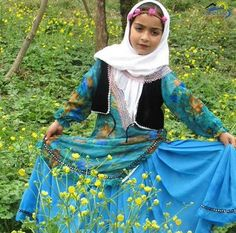 Gilaki Girl from Iran in traditional Dress.