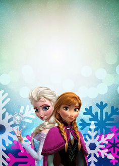 The Fulltime Family: Frozen Birthday Party Invitation with Snowflakes and Elsa and Anna