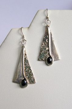 Precious Metal Clay Earrings (Reclaimed Silver)