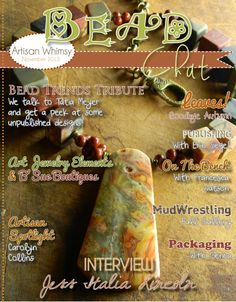 November 2013 BEAD Chat Magazine by Artisan Whimsy - Pinned from @Glossi, a free digital magazine creation platform