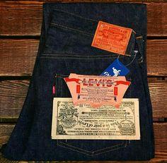 1950 levi's deadstock Blue Jeans, Denim Jeans, Levis Jean Jacket, Vintage Soul, Raw Denim, Levis 501, Denim Style, Blue Art, Denim Outfit