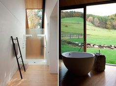 An Iconic Modern House in Woodstock Hits the Market - Remodelista Woodstock Vermont, Sweet Home, School Architecture, Other Rooms, Store Design, Modern Rustic, Rustic Farmhouse, Beach House, Bathrooms