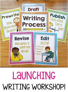 The Writing Workshop pack includes posters, foldups and tips for teaching the Writing Process!