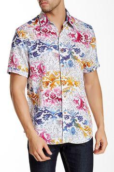 Sea of Cortez Short Sleeve Linen Classic Fit Shirt by Robert Graham on @nordstrom_rack