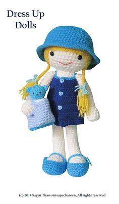 Amigurumi Dress Up Dolls : Perrita Caniche Amigurumi ~ Patron Gratis en Castellano ...