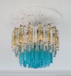 Lustre des années 60 en verre de Murano (The Apartment)