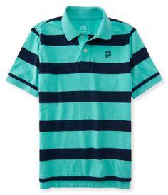 Kids' PSNY Bar Stripe Jersey Polo -