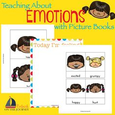 Sometimes emotions can be really overwhelming for little ones to understand. Using printables and activities about feelings and emotions have be helpful. Emotions Preschool, Teaching Emotions, Social Emotional Learning, Feelings Book, Feelings And Emotions, Emotions Cards, Emotion Faces, Emotional Child, Special Kids